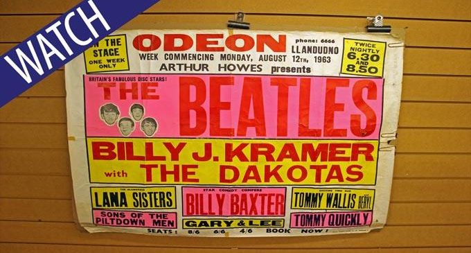 Rare Beatles concert poster from North Wales tour put up for auction by folk singer Mary Hopkin – Daily Post