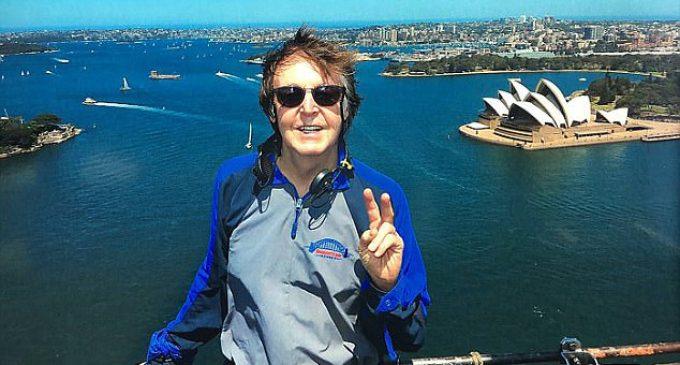 Paul McCartney first Beatle to climb Sydney Harbour Bridge   Daily Mail Online