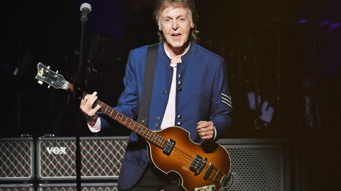 Sir Paul McCartney performs at the American Airlines Arena in Miami on July 7, 2017.