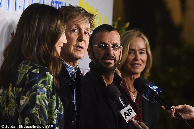 Paul McCartney and Ringo Starr enjoy mini Beatles reunion | Daily Mail Online