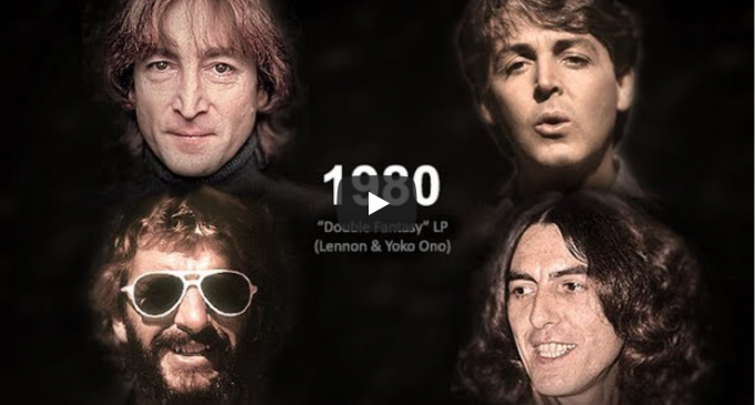 The Beatles Age Together from 1960 through 2017