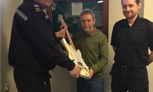 Man is reunited with his stolen £20k guitar | Daily Mail Online