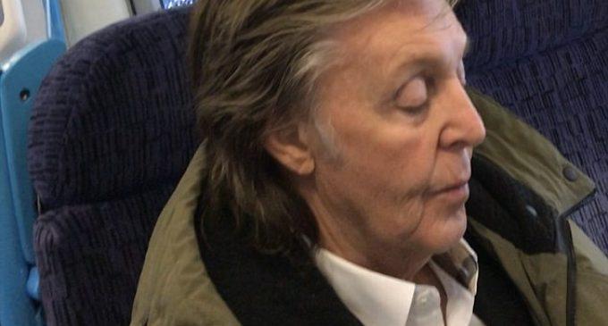 Sir Paul McCartney stuns commuters choosing second class on train | Daily Mail Online
