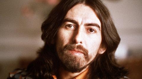 George Harrison photographed on Jan. 30, 1976.