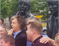 Paul McCartney & James Corden Make A Surprise Visit To The Beatles' Hometown | Billboard