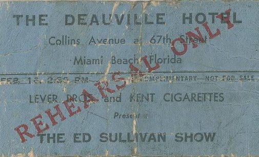Rare Beatles memorabilia from 1964 Miami Beach performance up…