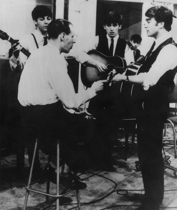 the beatles recording with george martin