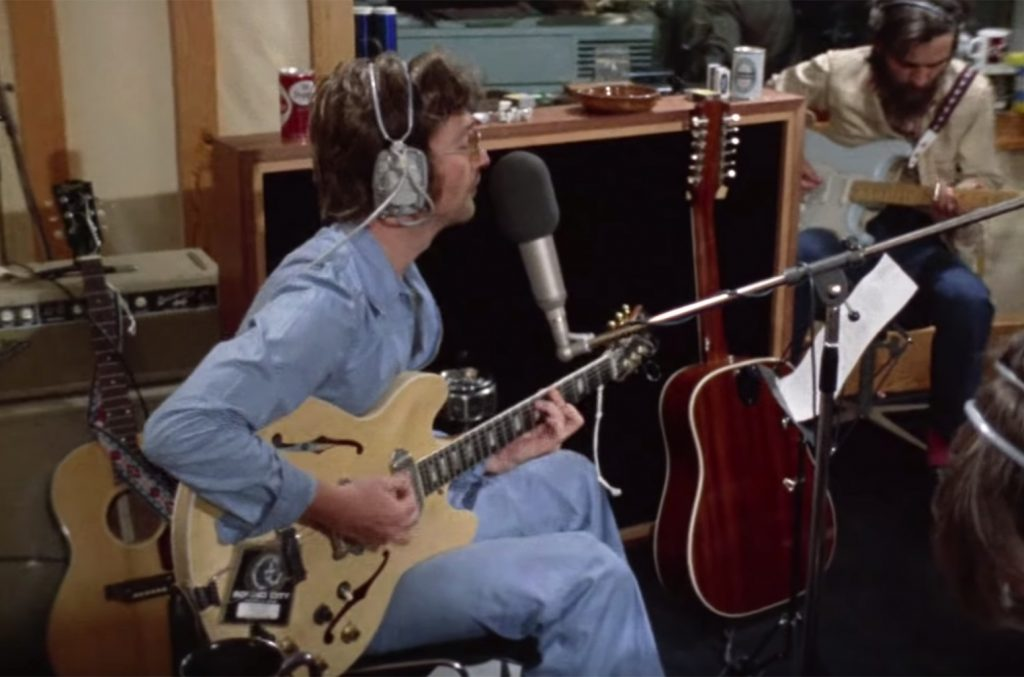 John Lennon and George Harrison Performing 'How Do You Sleep': Watch Newly Surfaced Studio Footage   Billboard