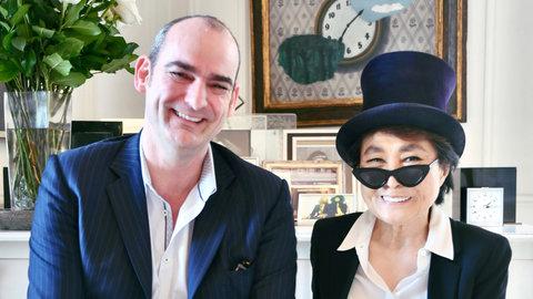 Simon Hilton and Yoko Ono