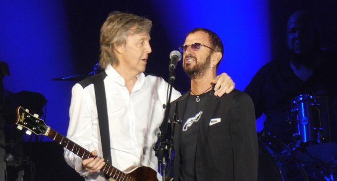 Paul McCartney brings out Ringo Starr for tour-closing Beatles reunion