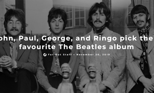 John, Paul, George, and Ringo pick favourite Beatles album