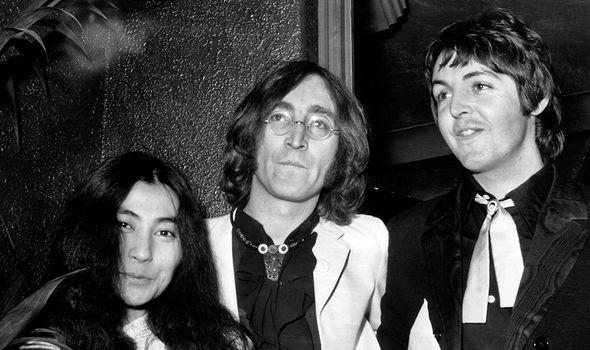 Ono, Lennon and McCartney before Lennon's death