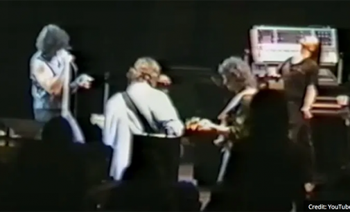 George Harrison joins Deep Purple for a special jam in 1984