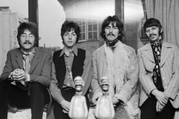 The Beatles posing for Borge, London