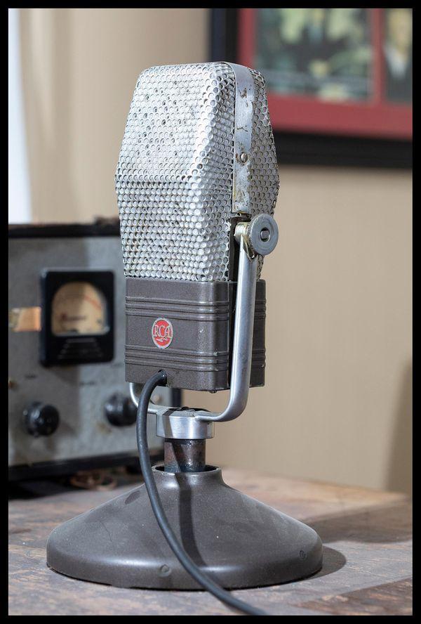 Radio microphone at Benton's Franklin County Historic Jail Museum