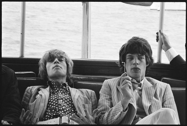 Brian Jones and Mick Jagger, Hudson River, New York, 1966