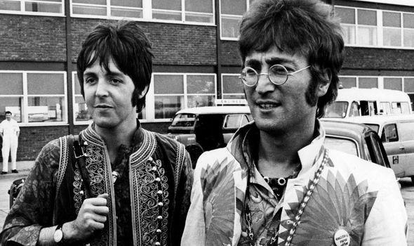 Sir Paul McCartney and John Lennon