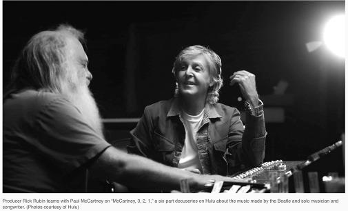 """Rick Rubin tells Paul McCartney that John Lennon called him """"one of the most innovative bass players of all time,"""" as they dissect some of The Beatles' greatest hits 