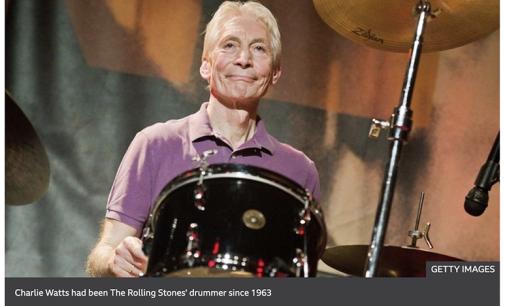 Rolling Stones drummer Charlie Watts dies at 80 – BBC News