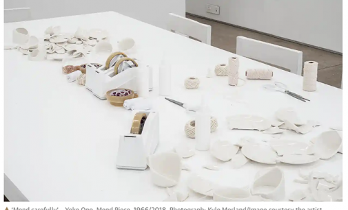 Yoko Ono: Mend Piece for London; This Is the Night Mail – review   Art   The Guardian