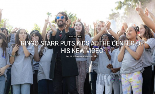 RINGO STARR PUTS KIDS AT THE CENTER OF HIS NEW VIDEO   Music   yesweekly.com