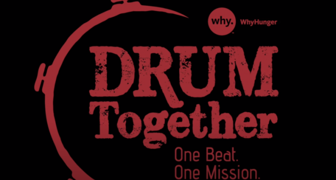 """More than 100 drummers join Ringo Starr for a """"Come Together"""""""